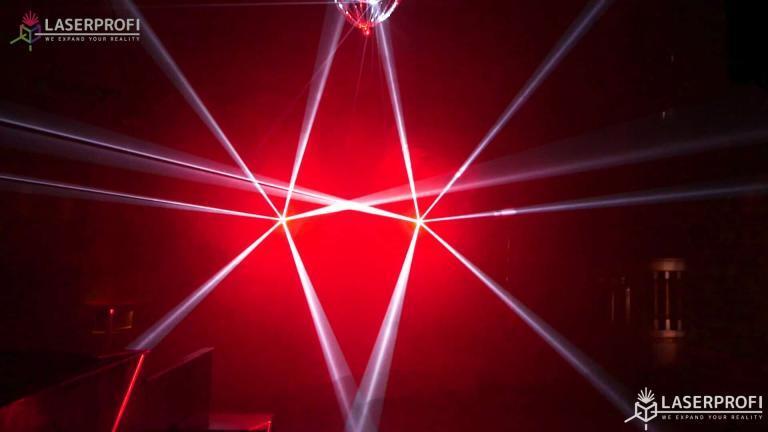 Laserowy pokaz przestrzenny na dyskotece