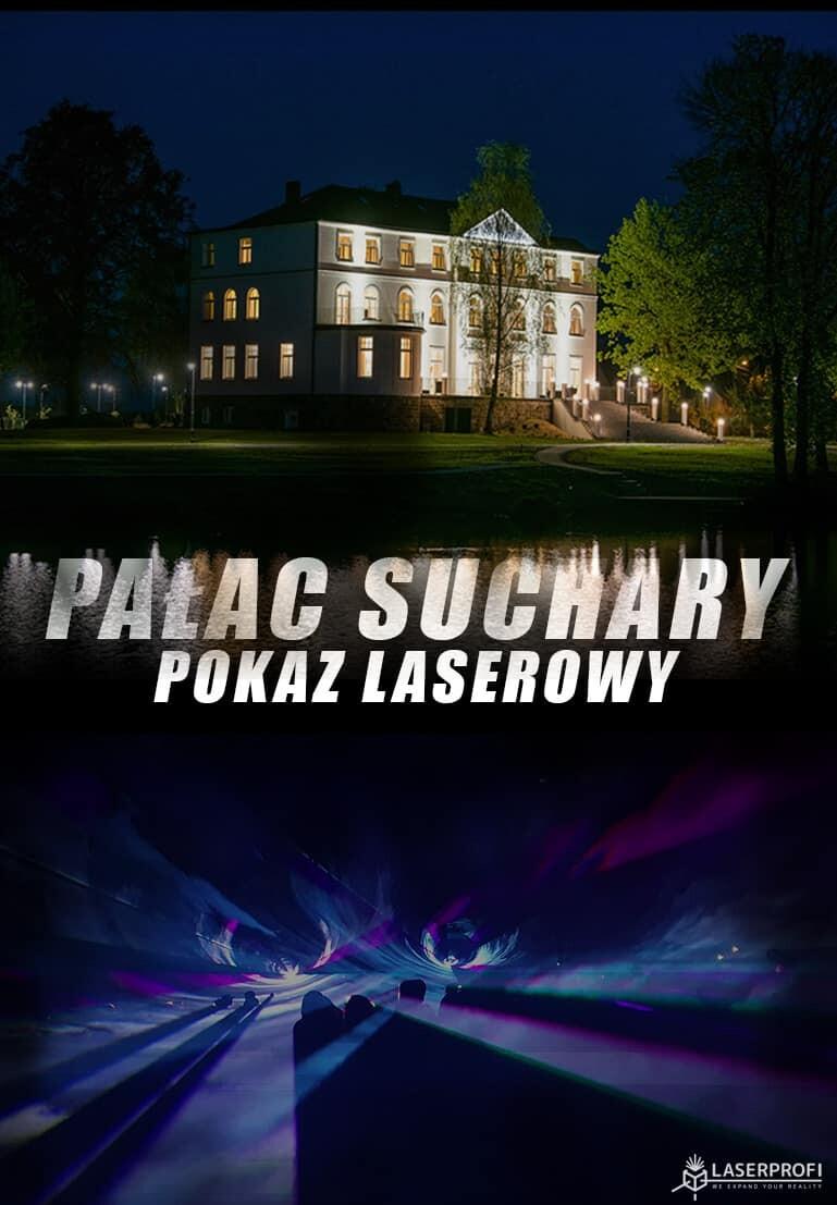 Pałac suchary pokaz laserowy