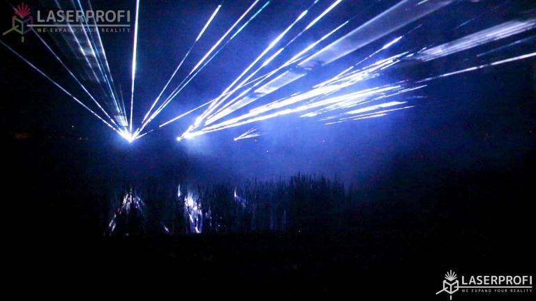 Pokaz fajerwerków laserowych