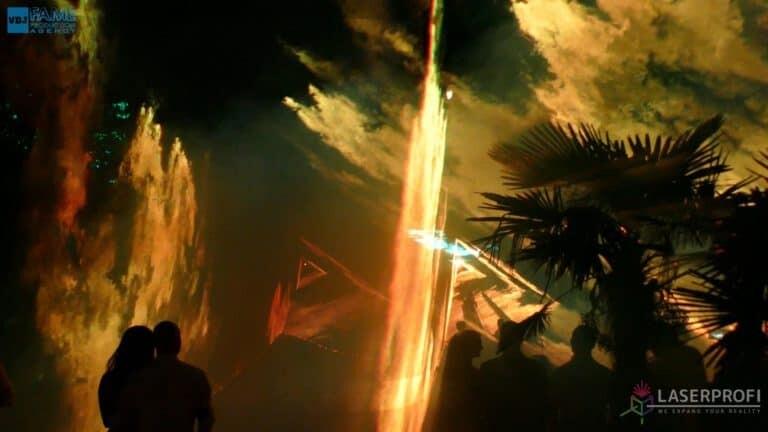 Pokaz laserów na weselu grudziądz plaża bursztyowy tunel przestrzenny