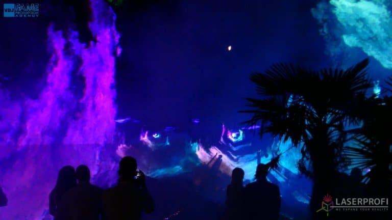 Pokaz laserów na weselu grudziądz plaża filoetowy tunel przestrzenny