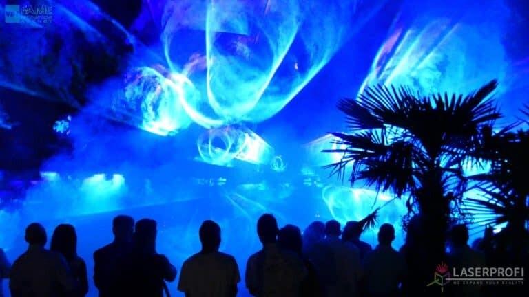 Pokaz laserów na weselu grudziądz plaża niebieskie lasery