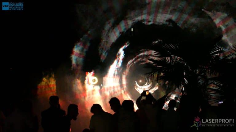 Pokaz laserów na weselu grudziądz plaża przestrzenny tunel