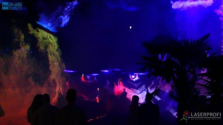 Pokaz laserów na weselu grudziądz plaża tuel przestrzenny