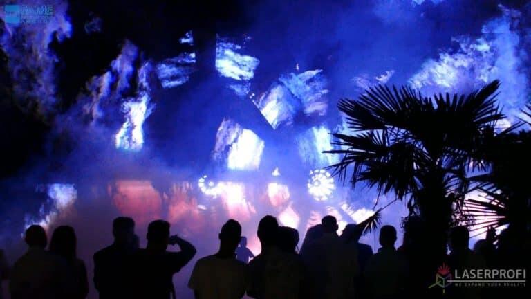 Pokaz laserów na weselu grudziądz plaża wiatrakilaserowe