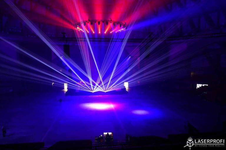 Pokazy laserowe na koncercie