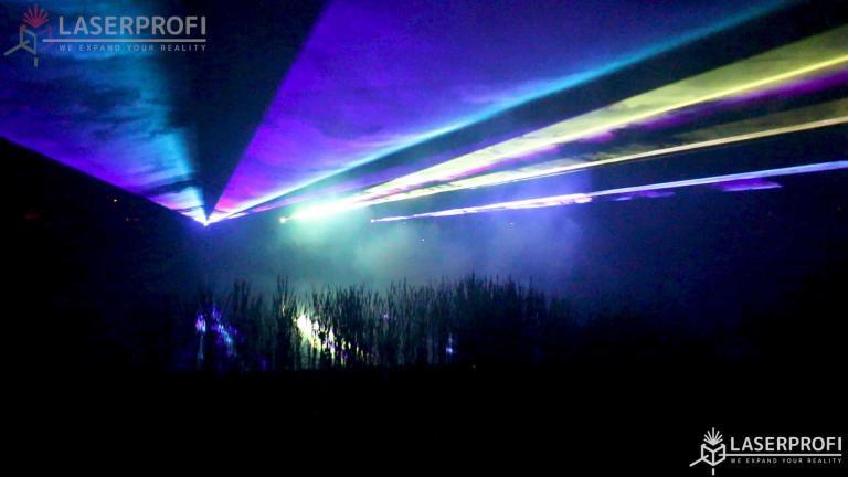 Pokaz laserowy pałac suchary