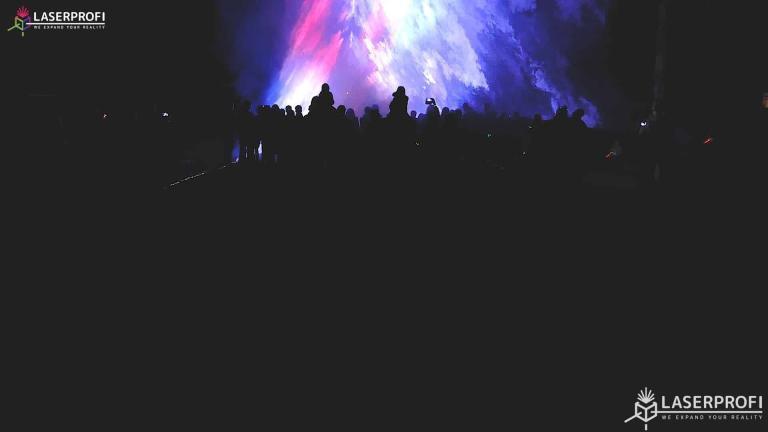 Pokaz laserowy przestrzenny - tunel laserowy