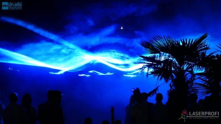 Pokaz laserowy wesele grudziądz plaża blue liquid sky
