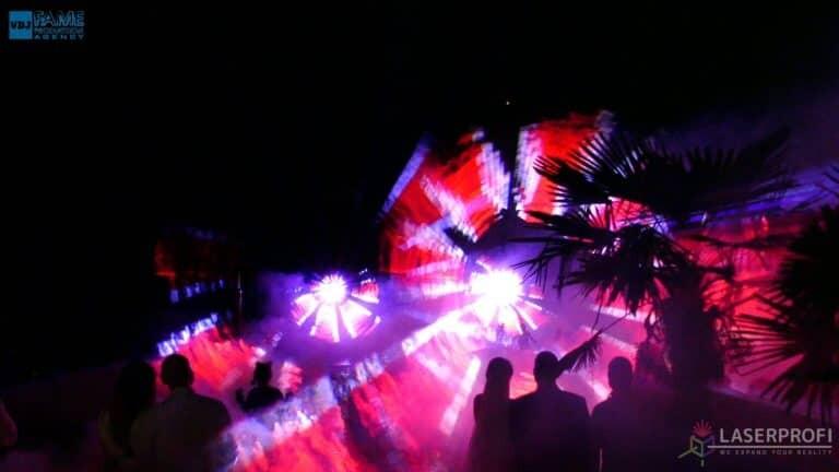 Pokaz laserowy wesele grudziądz plaża fajerwerki laserowe