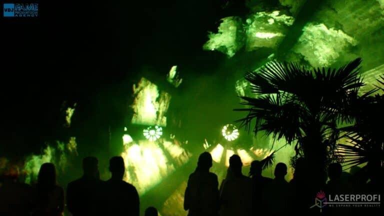Pokaz laserowy wesele grudziądz plaża green laser tunel