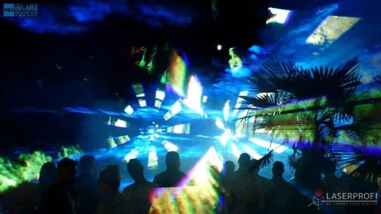 Pokaz laserowy wesele grudziądz plaża laserowe efekty multikolorowe