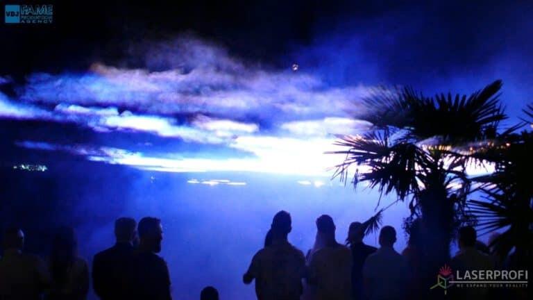Pokaz laserowy wesele grudziądz plaża laserowe niebo