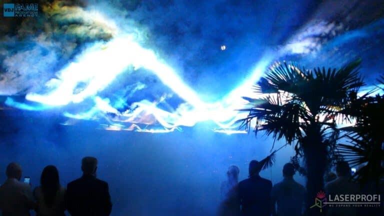 Pokaz laserowy wesele grudziądz plaża liquid sky