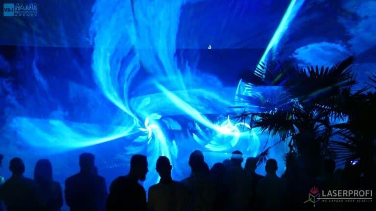 Pokaz laserowy wesele grudziądz plaża niebieska wirówka laserowa
