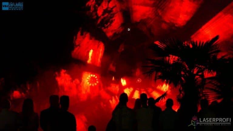 Pokaz laserowy wesele grudziądz plaża tunel czerwony