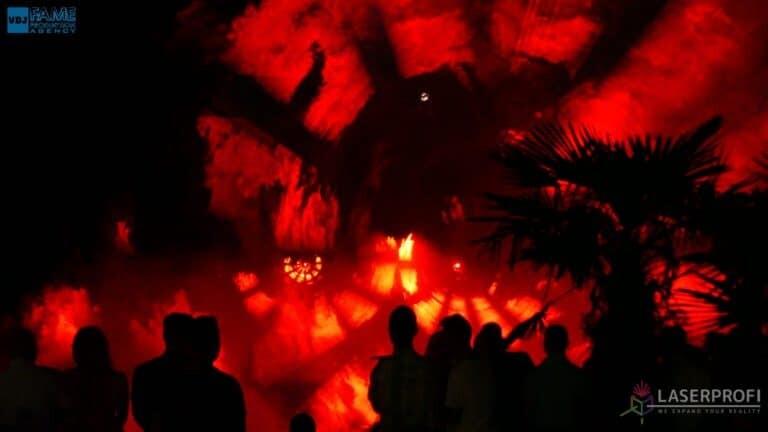 Pokaz laserowy wesele grudziądz plaża tunel fajerwerki laserowe