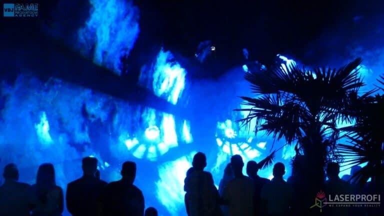 Pokaz laserowy wesele grudziądz plaża tunel laserów