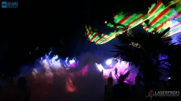 Pokaz laserowy wesele grudziądz plaża tunele laserowe