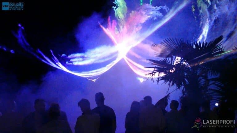 Pokaz laserowy wesele grudziądz plaża tunele przestrzenne