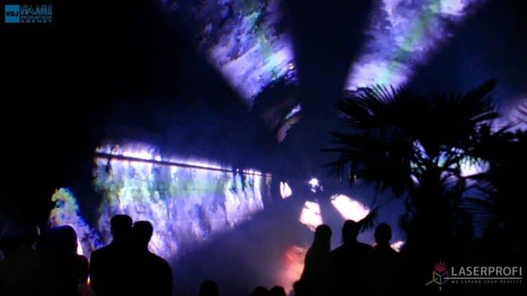 Pokaz laserowy wesele grudziądz plaża wachlarz laserowy