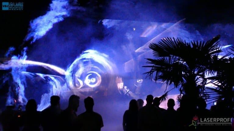 Pokazy laserów wesele grudziądz plaża fajerwerki laserowe
