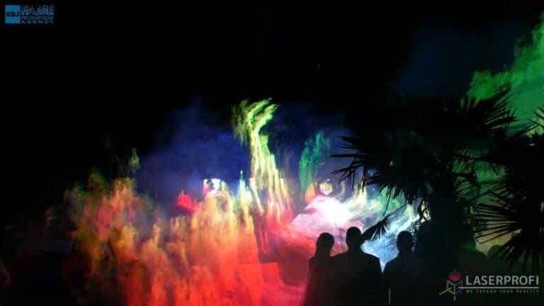 Pokazy laserów wesele grudziądz plaża kolorowe lasery
