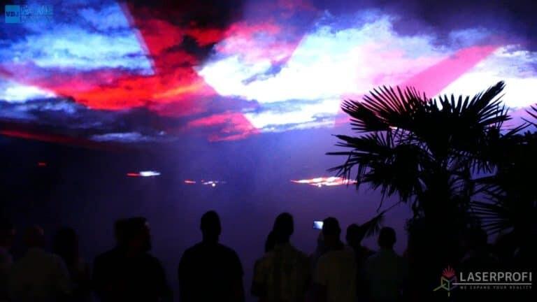 Pokazy laserów wesele grudziądz plaża laserowe fajerwerki