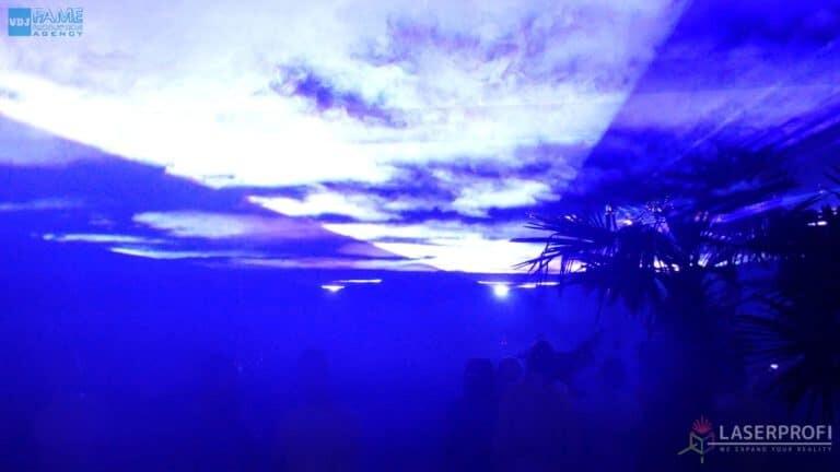 Pokazy laserów wesele grudziądz plaża liquid sky