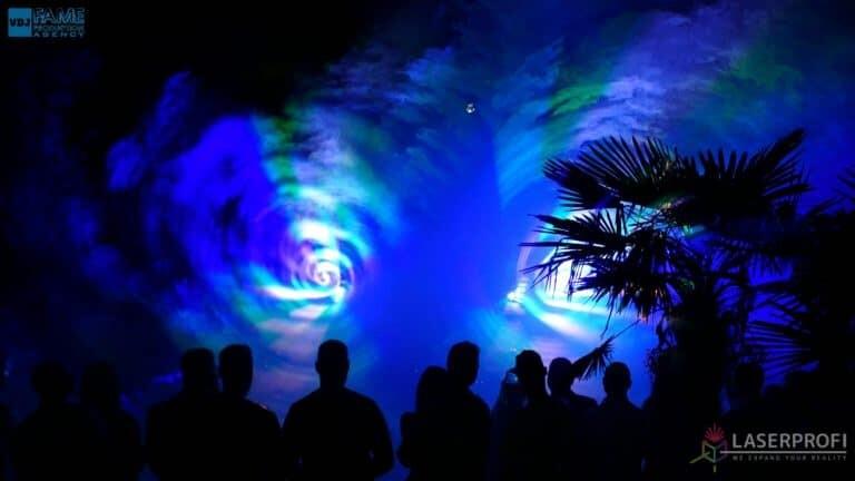Pokazy laserów wesele grudziądz plaża tunele