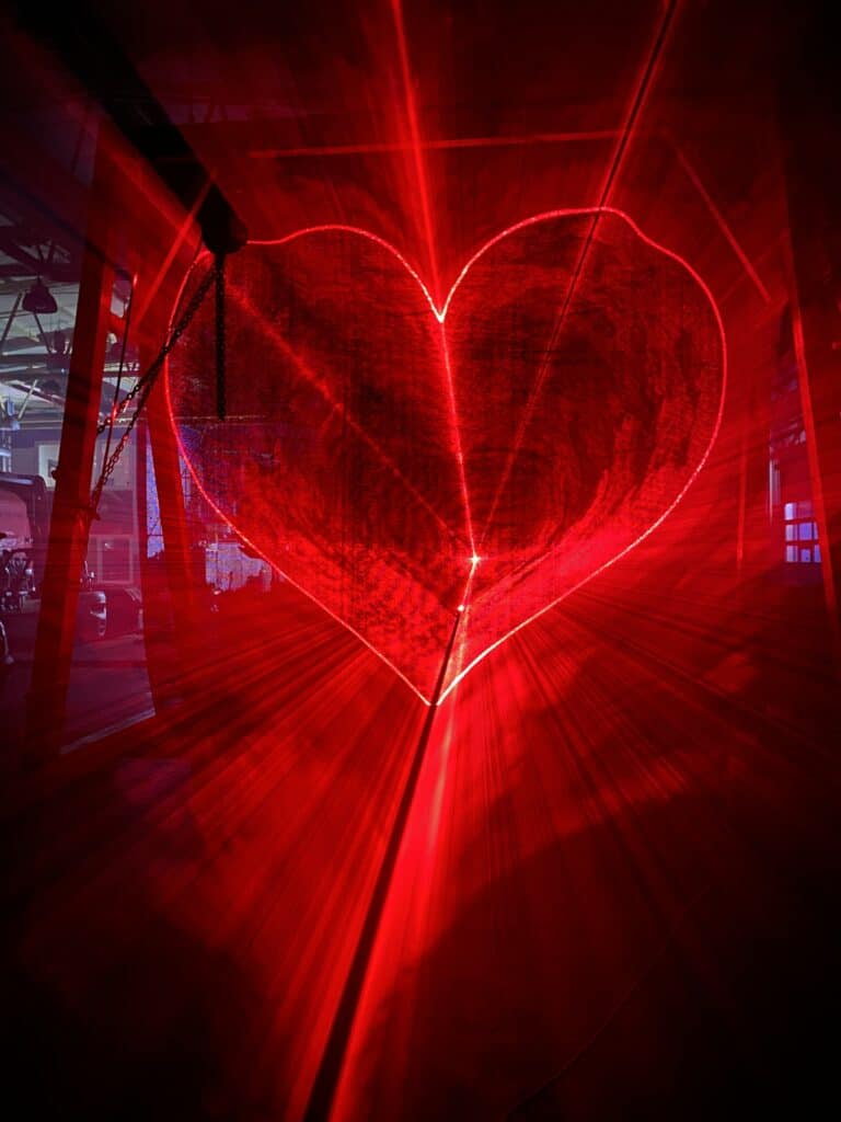 Serce 3D laser przestrzenne