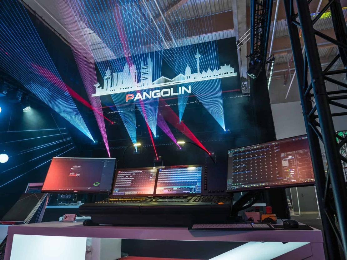 Stanowisko firmy Pangolin na targach Prolight+sound we Frankfurcie 2019