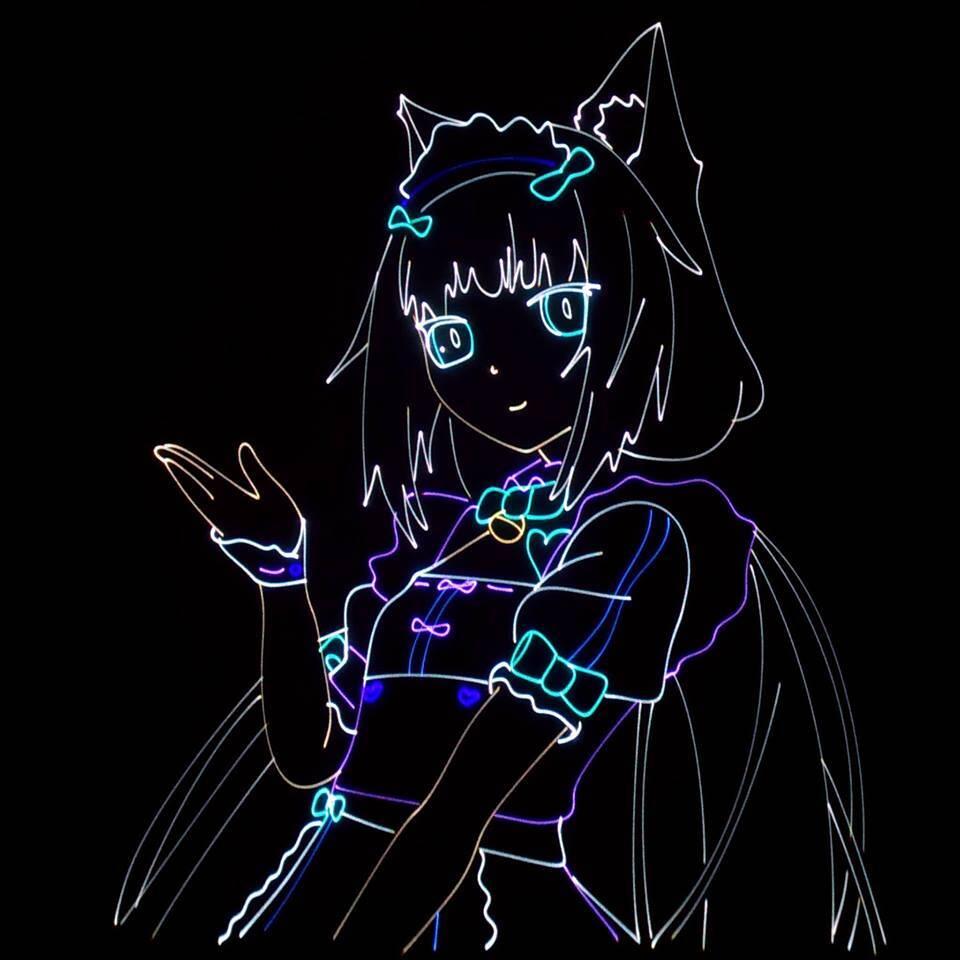 animacja laserowa dziewczynki