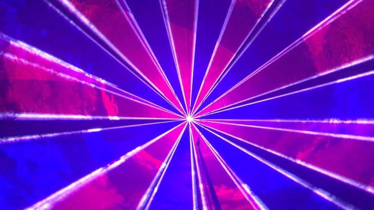 efekt laserowy purpurowy