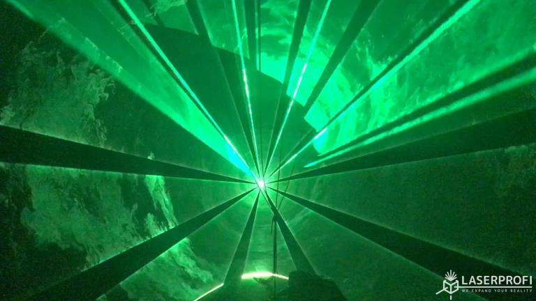 efekt laserowy zielen