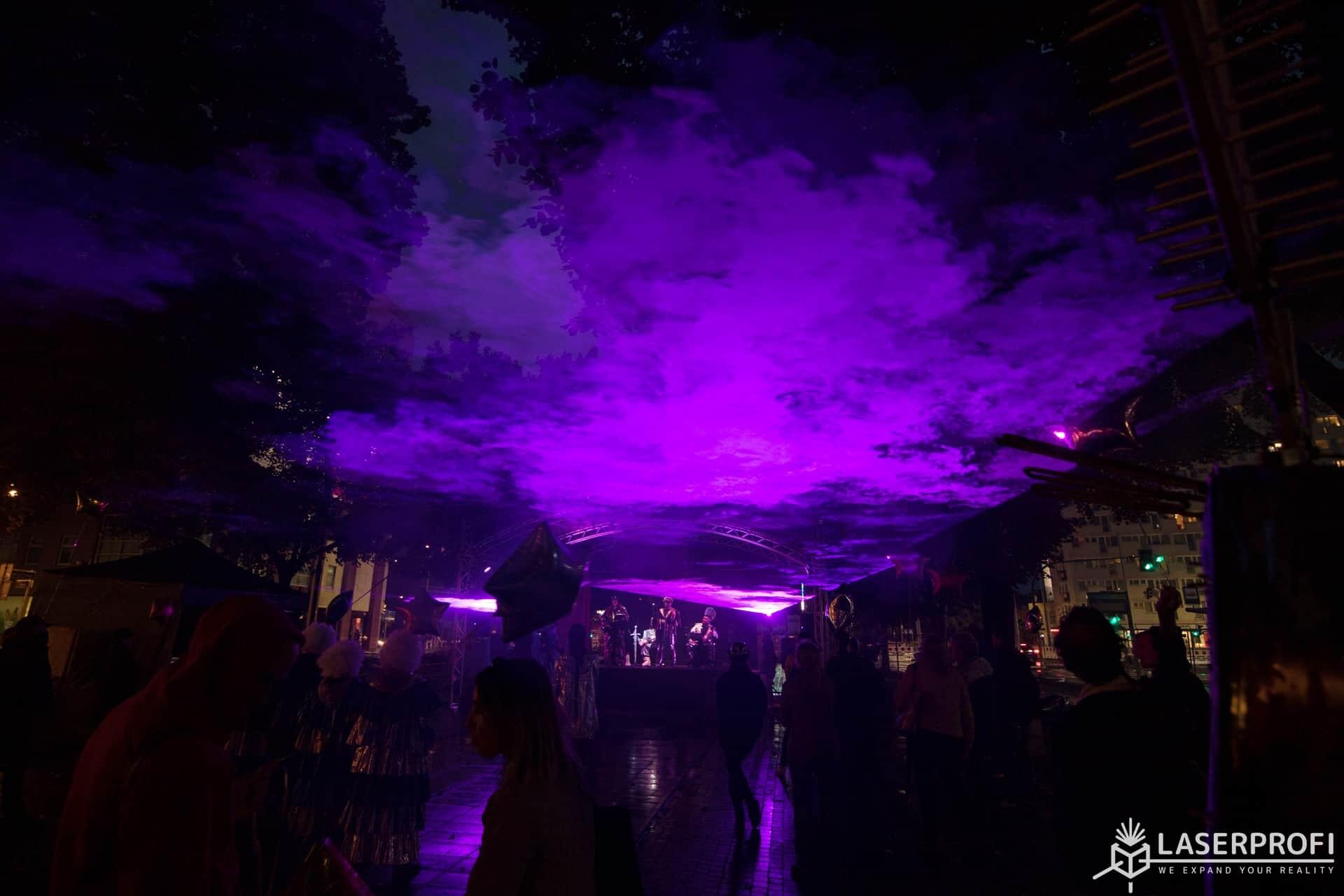 fioletowe lasery lemostrada