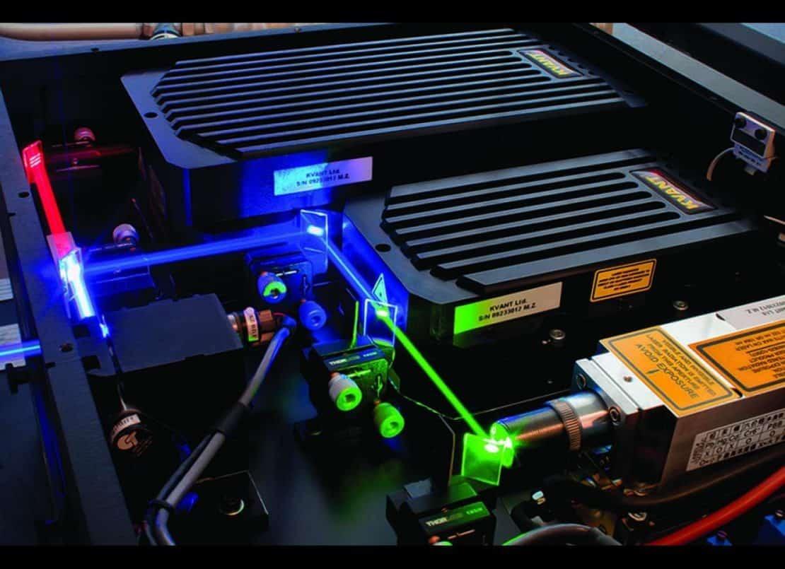 kvant laser wnętrze obudowy