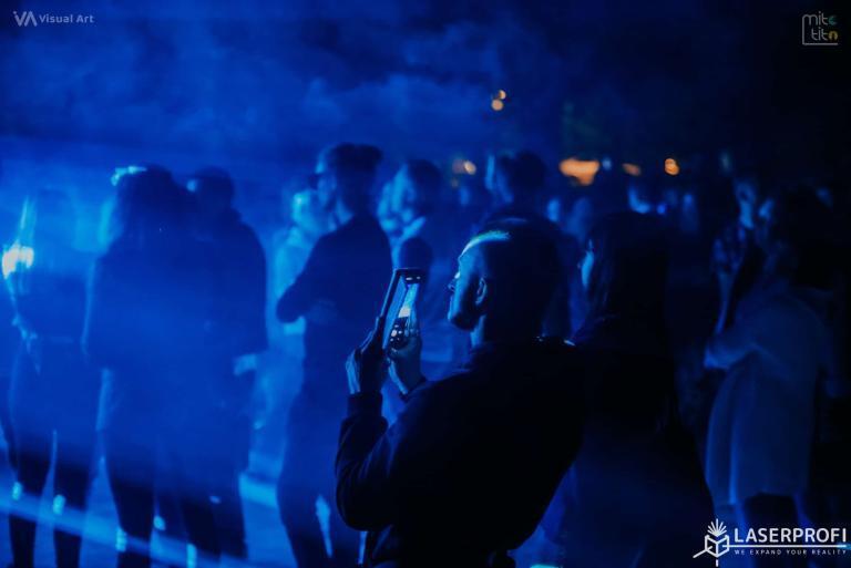 łuna laserowa i fotograf pokaz w Rybniku