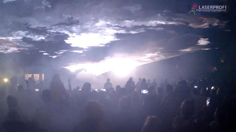 niebo uslane laserami w Czaplinku