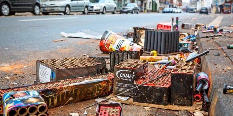 odpady po fajerwerkach
