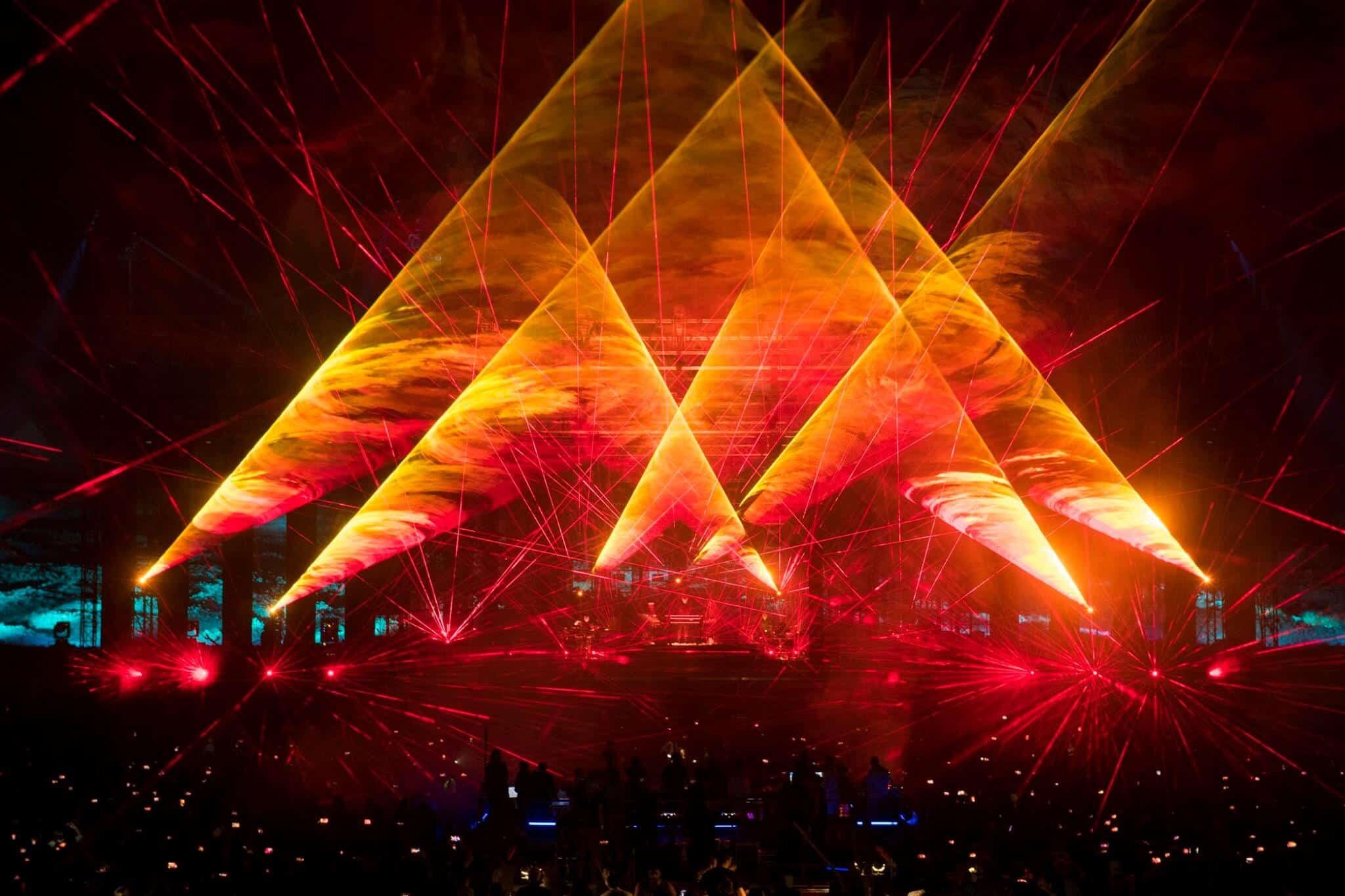pokaz laserowy na żywo