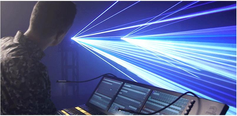 sterowanie wiązkami laserowymi przez konsolę grandma2
