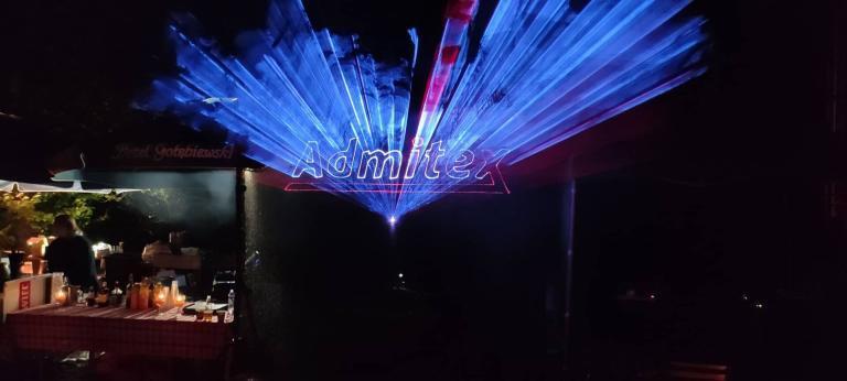 przestrzenne logo laserowe admitex