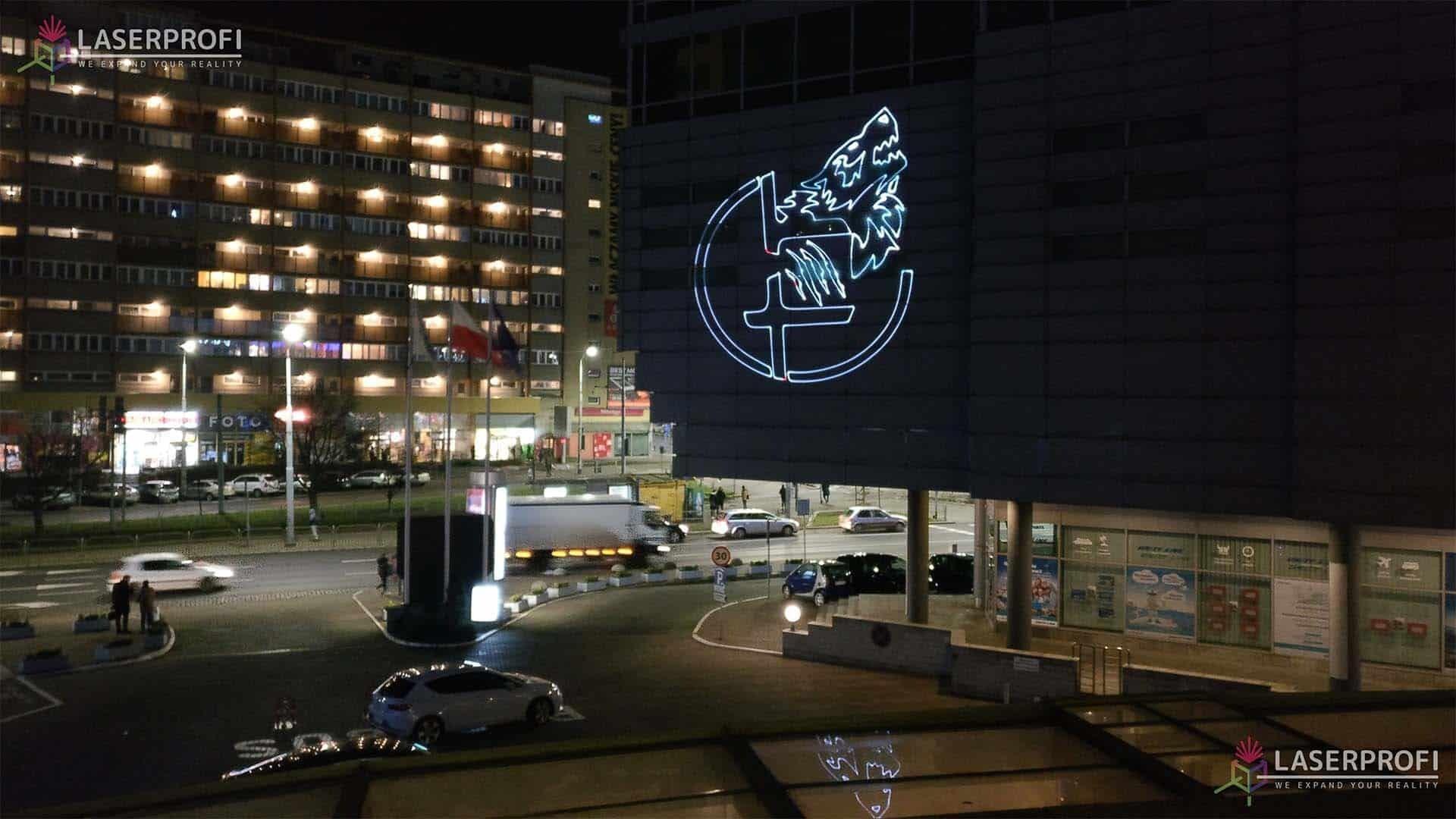 reklama laserowa