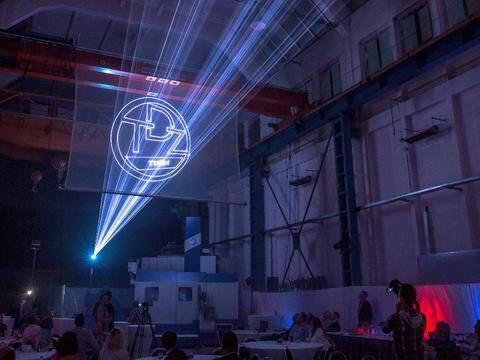 reklama laserowa na siatce