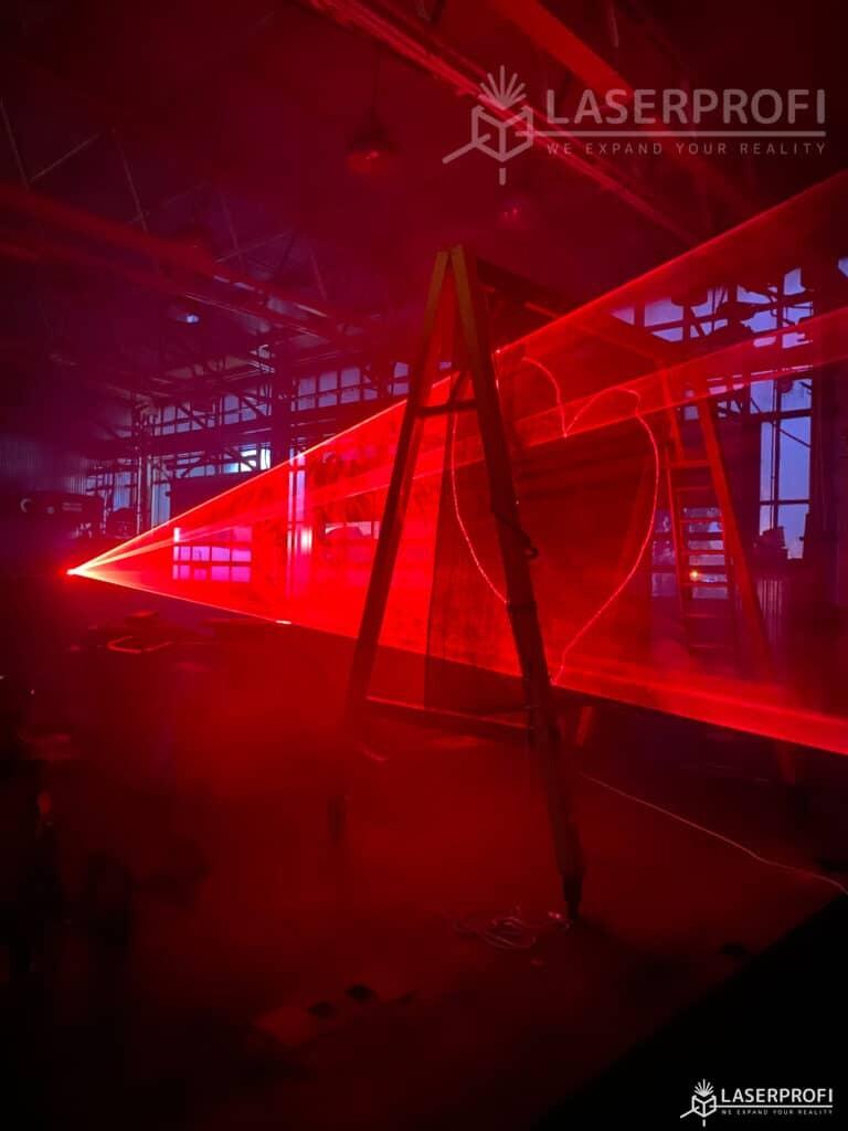 serce weselne stworzone laserem