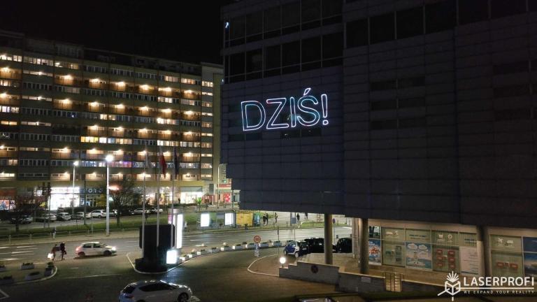 tekst laserowy reklama