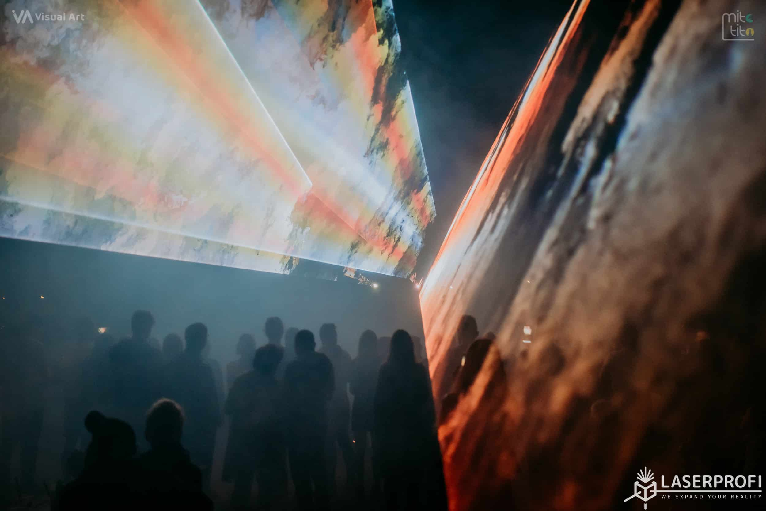 wachlarz laserowy pokaz w Rybniku