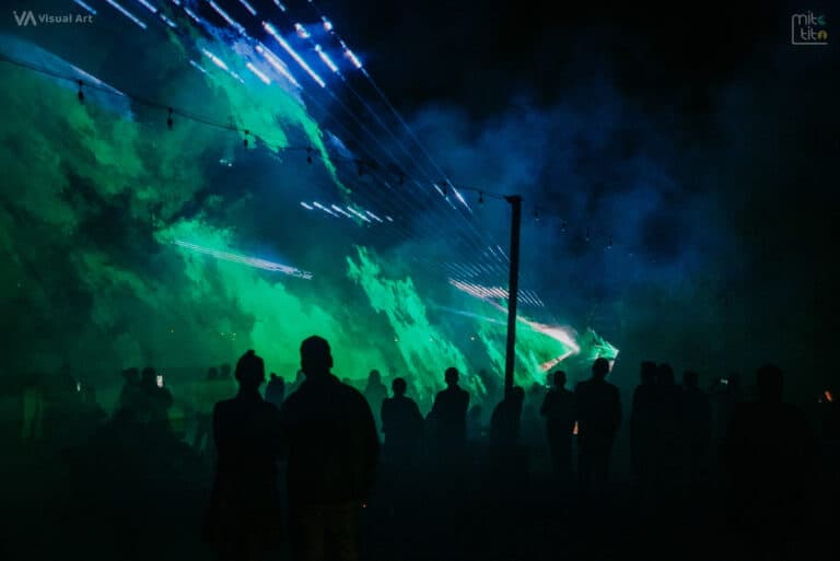 zielone lasery przestrzenne pokaz w Rybniku